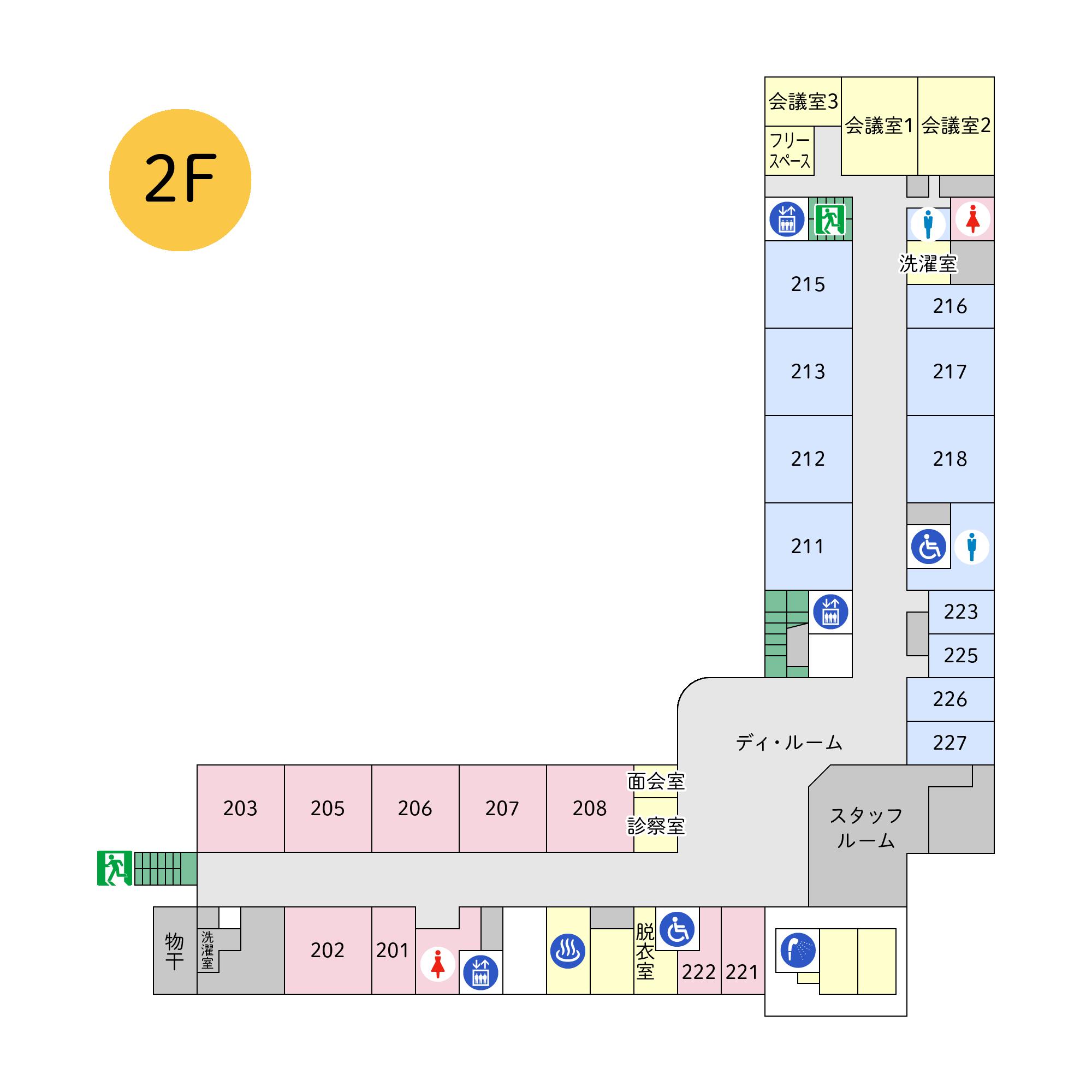 フロアマップ本館2階