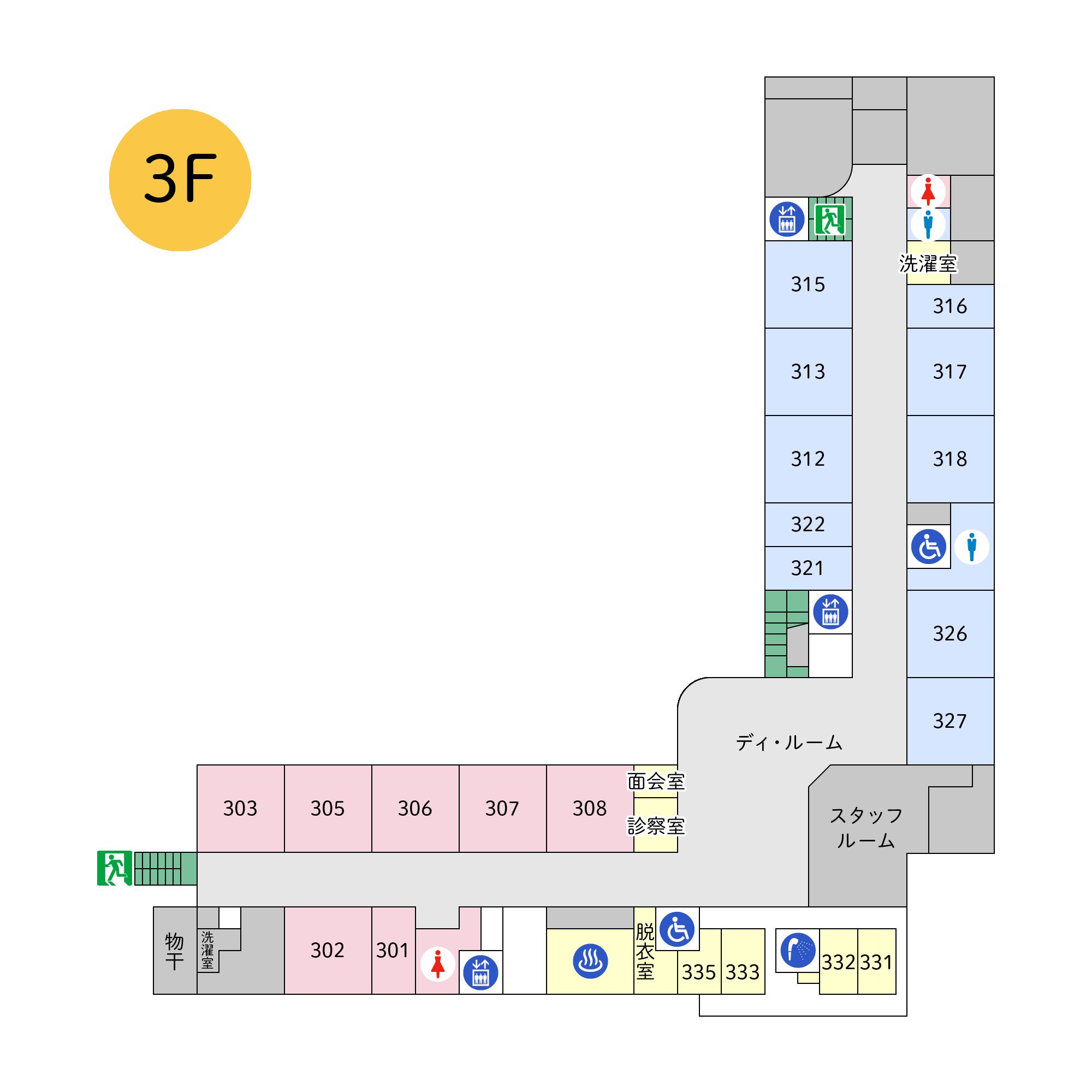 フロアマップ本館3階