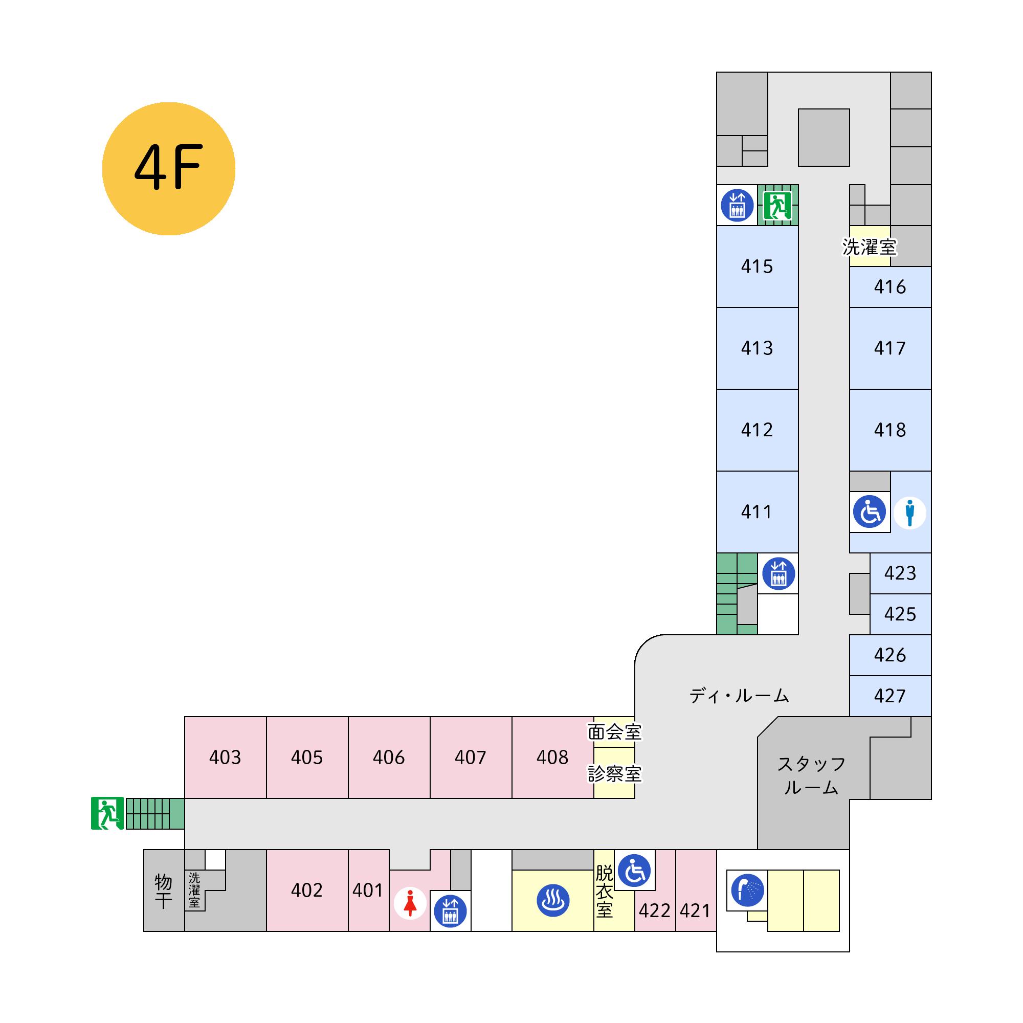 フロアマップ本館4階