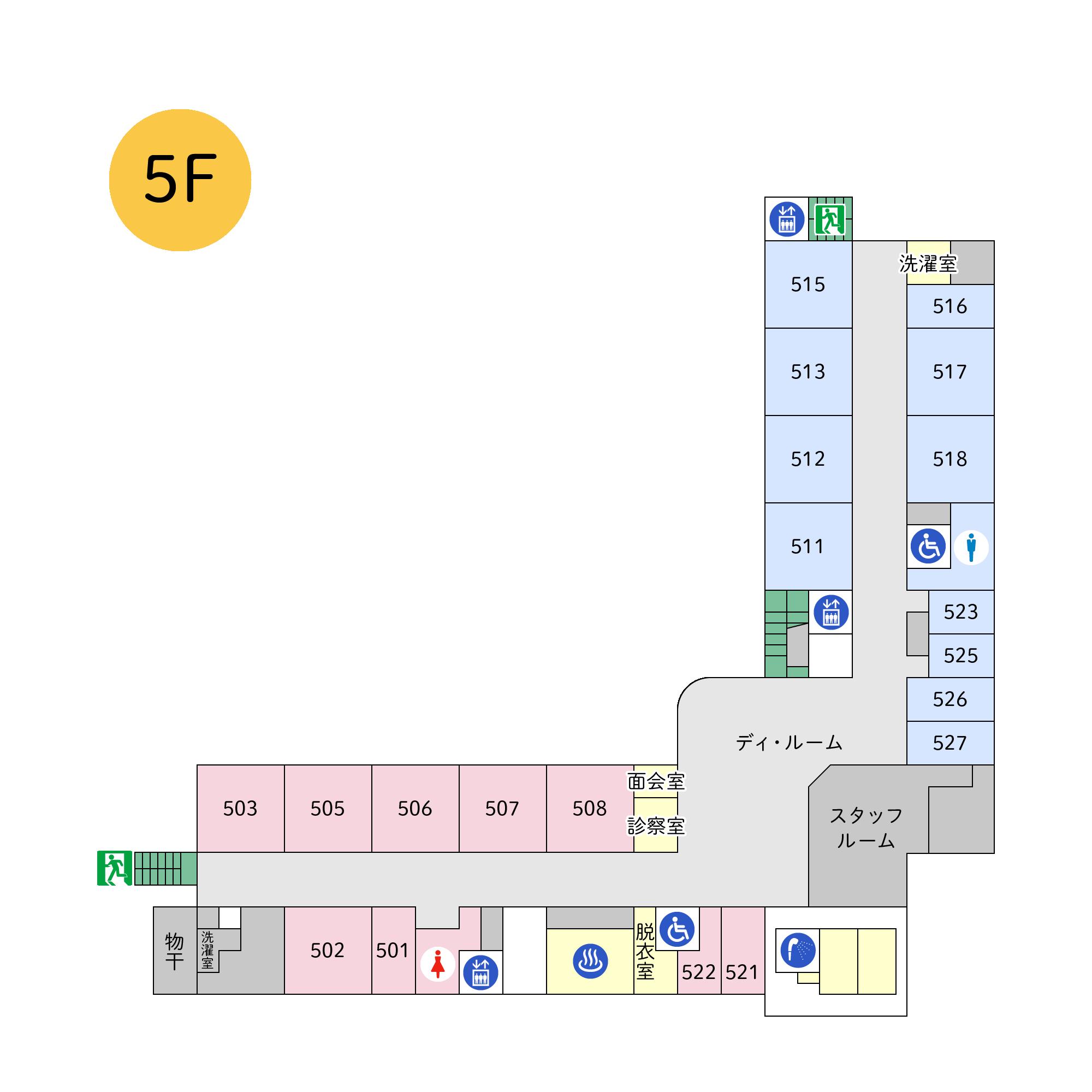 フロアマップ本館5階